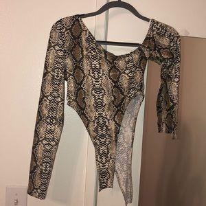 Shein Snakeskin Bodysuit